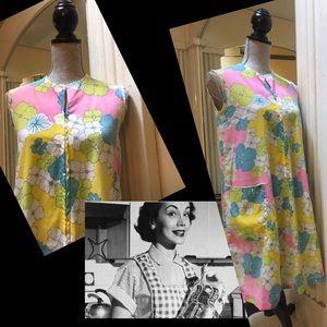 Dresses & Skirts - 1960s Unique vintage Flower Power House Dress M♥️